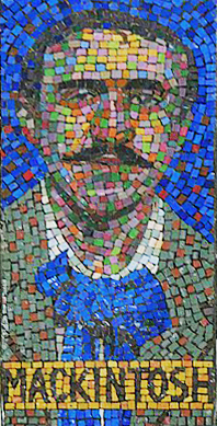 Charles Rennie Mackintosh Mosaic, PhotoShop by Andrea Reeves