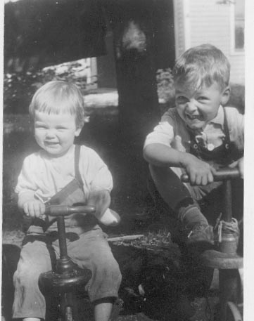 [my mother and her brother in attleboro ma, early 1920s]