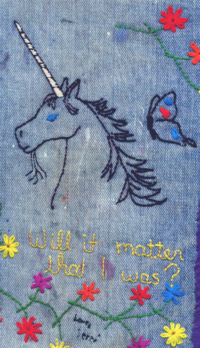 Embroidery on dungaree: Will it matter that I was?
