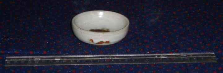 Petite bowl with iron oxide