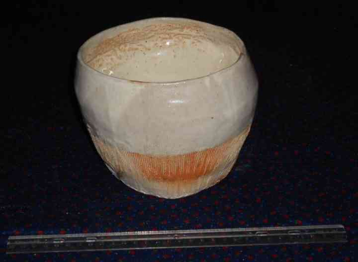 Wide-mouthed jar fired in the wood-burning kiln